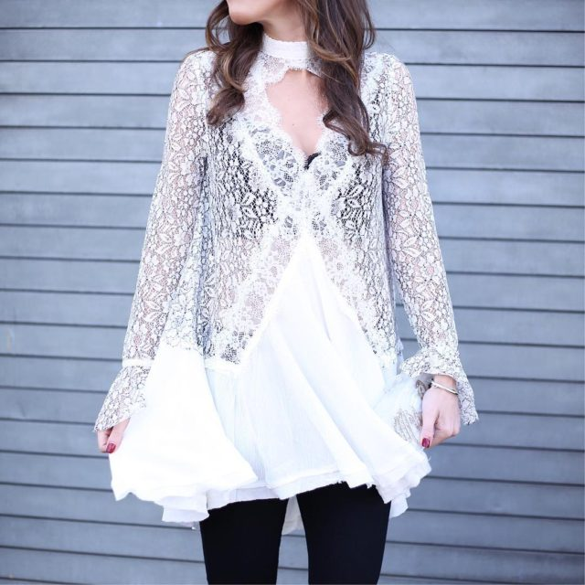 Happy Monday morning! Details on this gorgeous lace tunic arehellip